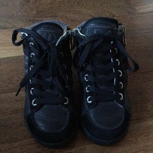 D&G JR black sneakers high tops leather kid EUR 24